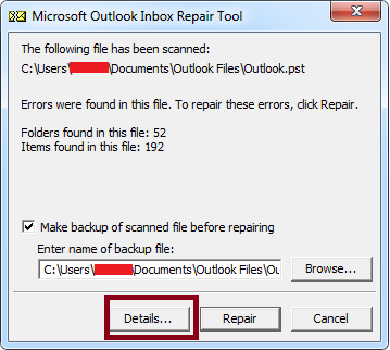 Download ScanPST exe - Inbox Repair Tool to Repair Outlook Files