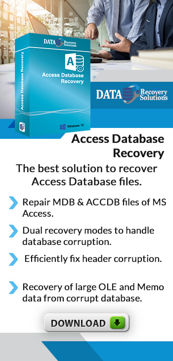 Access Database Recovery software to repair corrupt or