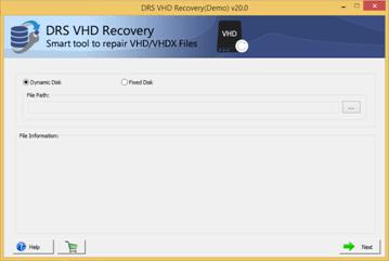 DRS VHD Recovery Tool full screenshot