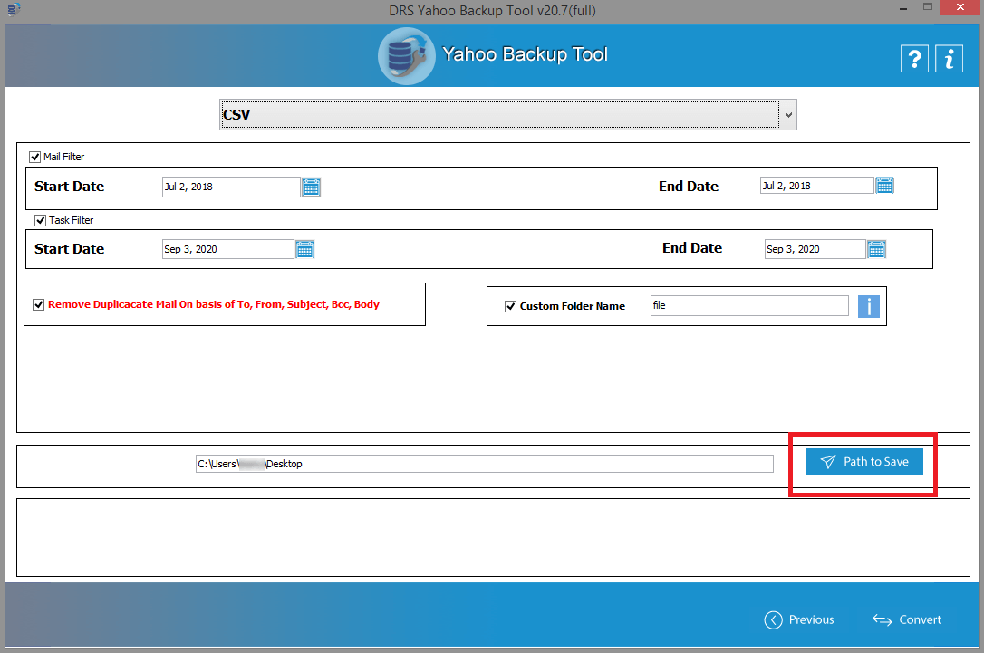 yahoo download csv file
