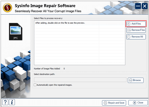 JPEG Repair Tool full screenshot