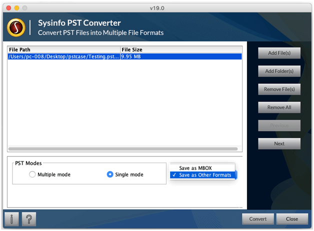 Outlook PST File Converter to Export PST to EML for Windows