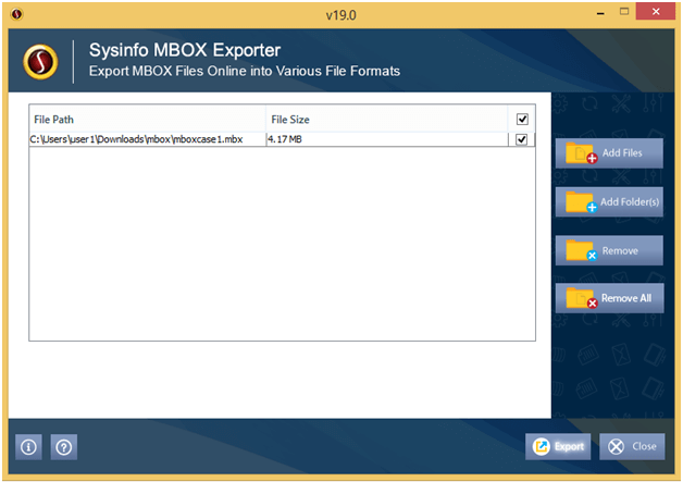 MBOX File Converter for Windows full screenshot